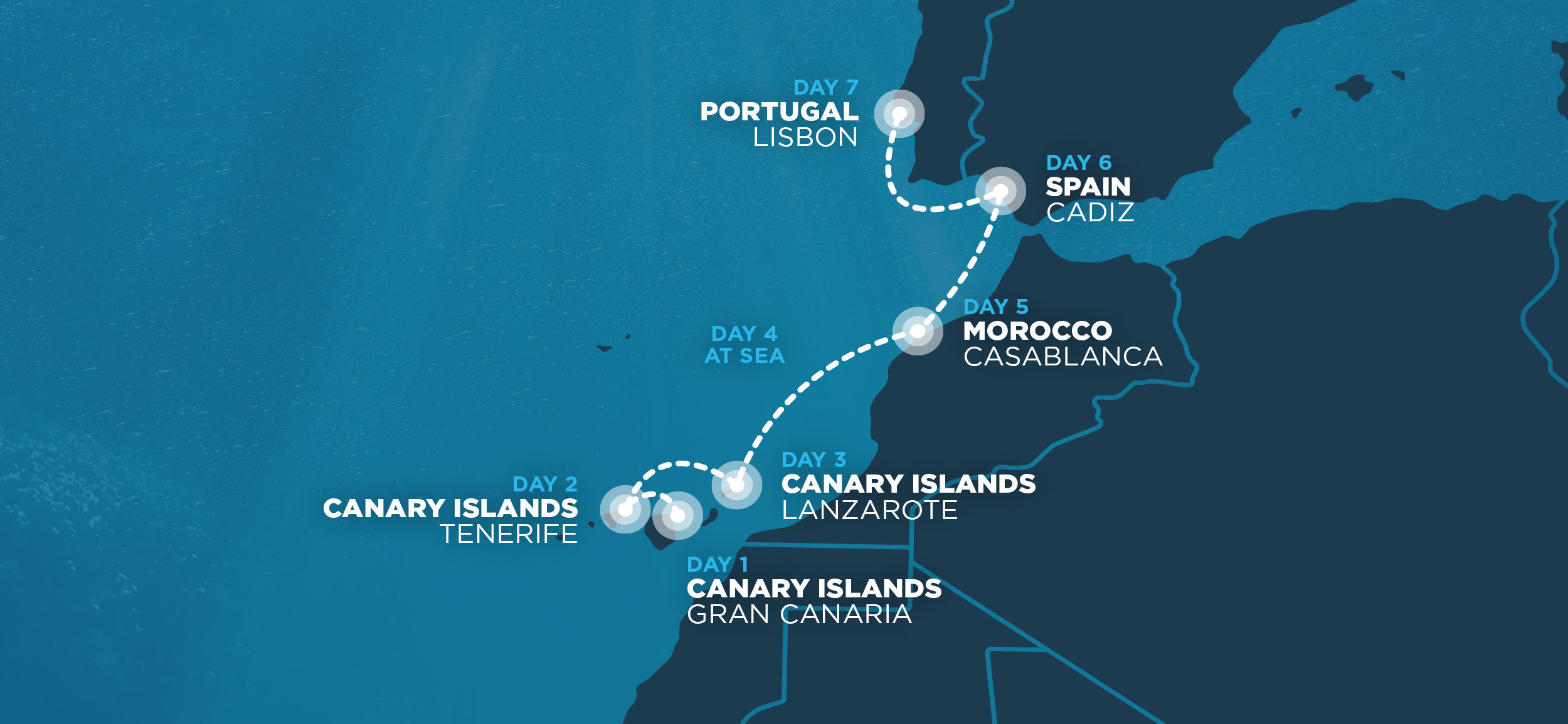 Map Of Spain Gran Canaria.Nomad Cruise 8 Sail From Spain To Portugal With 200 Digital Nomads